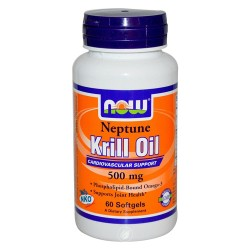 Now foods krill oil neptune 500 mg softgels - 60 ea