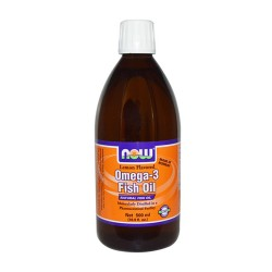 Now foods omega-3 fish oil, lemon flavored - 7 oz