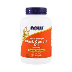 Now foods black currant oil double strength 1000 mg,  softgels - 100 ea