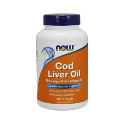 Now foods cod liver oil extra strength 1000 mg softgels - 180 ea