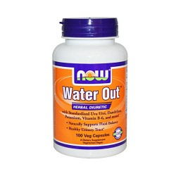 Now foods water out herbal diuretic veg capsules - 100 ea