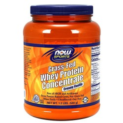 Now foods, grass-fed whey protein concentrate, creamy vanilla - 20 oz