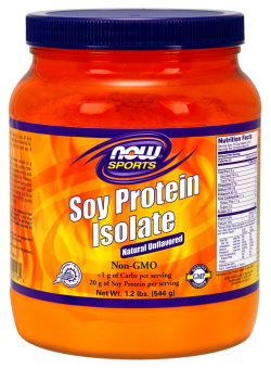 Now foods soy protein isolate unflavored powder - 1.2 lbs