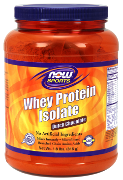 Now foods whey protein isolate dutch chocolate - 1.8 lbs