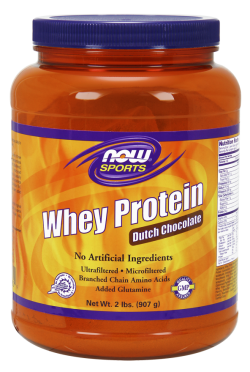 Now foods whey protein dutch chocolate - 2 lbs