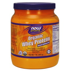 Now foods organic whey protein natural unflavored - 1 lb