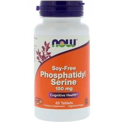 Now foods, phosphatidyl serine, soy-free, 150 mg tablets - 60 ea