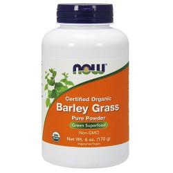Now foods, certified organic barley grass pure powder - 6 oz