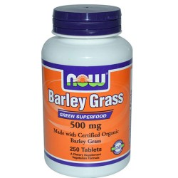 Now foods, certified organic barley grass, 500 mg, tablets - 250 ea