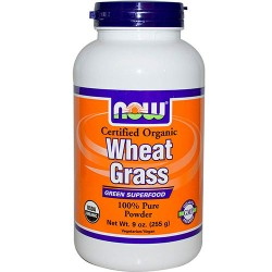 Now foods, certified organic wheat grass - 9 oz