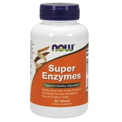 Nowfoods super enzymes supports for healthy digestion tablets - 90 ea