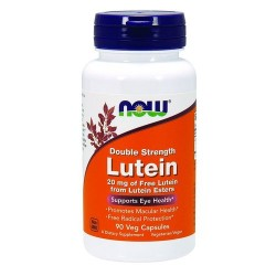 Now Foods lutein double strength 20 mg veg capsules - 90 ea