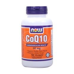 Now foods CoQ10 60 mg cardiovascular health, veg capsules - 180 ea