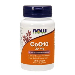 Now Foods CoQ10 30 mg cardiovascular health, softgels - 90 ea