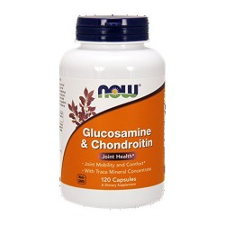 Now Foods Glucosamine and Chondroitin with trace minerals, capsules - 120 ea