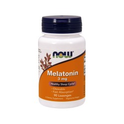 Now Foods Melatonin 3 mg healthy sleep cycle, lozenges - 90 ea