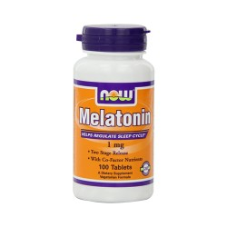 Now Foods Melatonin 1 mg healthy sleep cycle, tablets - 100 ea