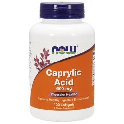 Nowfoods Caprylic acid 600 mg softgels - 100 ea