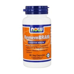 Now foods remembrain vegetarian capsules - 60 ea