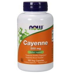 Now Foods cayenne 500 mg veg capsules - 100 ea