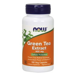Nowfoods Green tea extract 400 mg capsules - 100 ea
