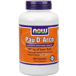 Now Foods Pau D'Arco 500 mg veg capsules - 100 ea