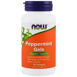 Now foods peppermint softgels - 90 ea