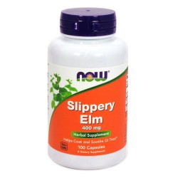 Now Foods slippery elm 400 mg capsules - 100 ea