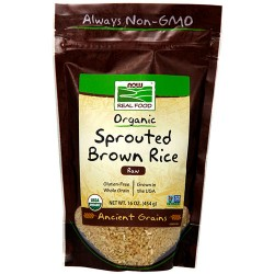 Now Foods real food organic sprouted brown rice - 16 oz