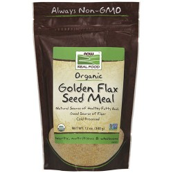 Now Foods certified organic golden flax seed meal - 12 oz