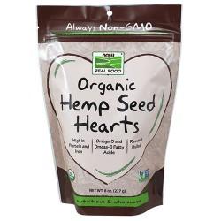 Now Foods real food organic hemp seed hearts - 8 oz