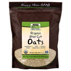 Now Foods organic steel cut oats - 32 oz