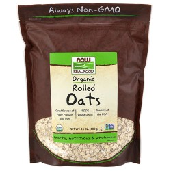 Now Foods rolled oats - 24 oz