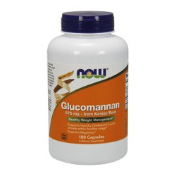 Nowfoods Glucomannan 575 mg capsules - 180 ea