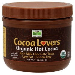 Now Foods real food cocoa lovers organic hot cocoa - 14 oz