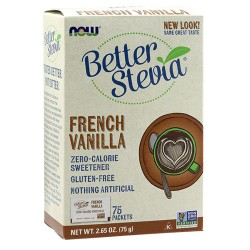 Now Foods better stevia french vanilla - 75 ea