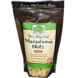 Now foods Macadamia Nuts, Dry Roasted and Salted - 9 oz