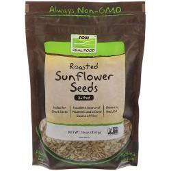 Now foods roasted sunflower seeds, salted - 16 oz