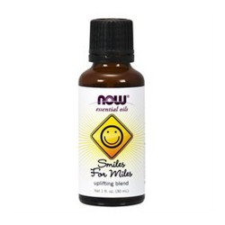 NOW Essential Oils Smiles For Miles Uplifting Oil Blend (30 ml) - 1 oz