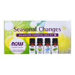 Now Foods seasonal changes balancing essential oils kit, 4 Bottles - 1.3 oz