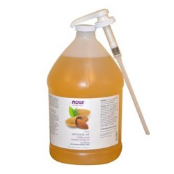 Now Foods solutions sweet almond oil - 128 oz