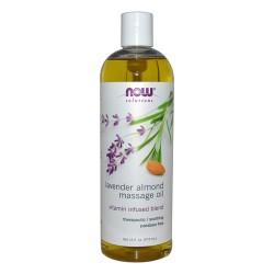 Now Foods solutions lavender almond massage oil - 16 oz