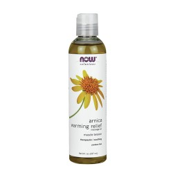 Now Foods solutions arnica warming relief massage oil - 8 oz
