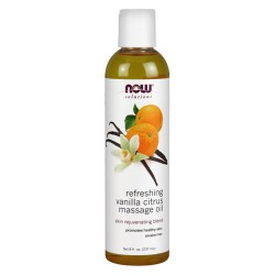 Now Foods solutions refreshing vanilla citrus massage oil - 8 oz