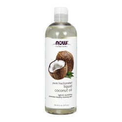 Now Foods solutions liquid coconut oil, Pure fractionated - 16 oz