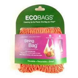 Eco bags natural cotton string bag Tote Handle cranberry- 1 ea
