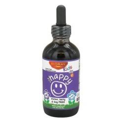 Bioray kids ndf happy liquid herbal drops, peach flavor  -  4 oz