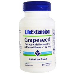 LifeExtension Grapeseed resveratrol 100 mg vegetrain capsules - 60 ea