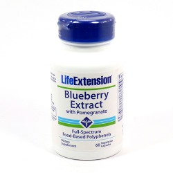 LifeExtension Blueberry extract vegetarian capsules - 60 ea