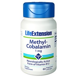 LifeExtension Methyl Cobalamin 1 mg vitamin b12, veg caps - 60 ea